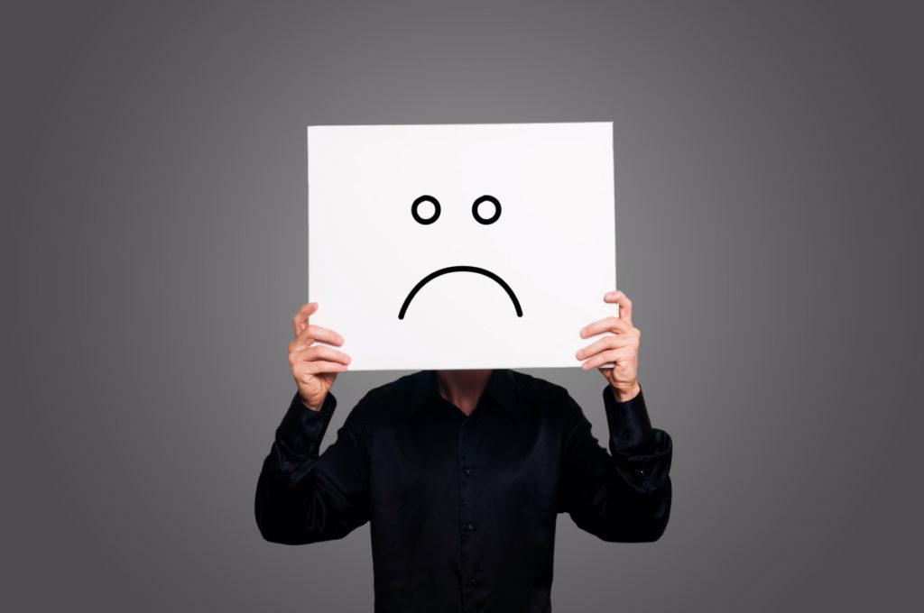 Uma pessoa pessimista