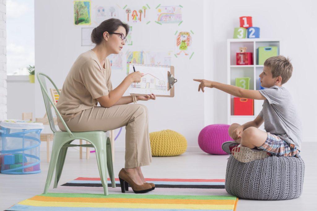 Psicologo e as crianças